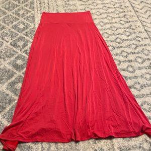 🔥flash sale🔥Red lularoe maxi skirt